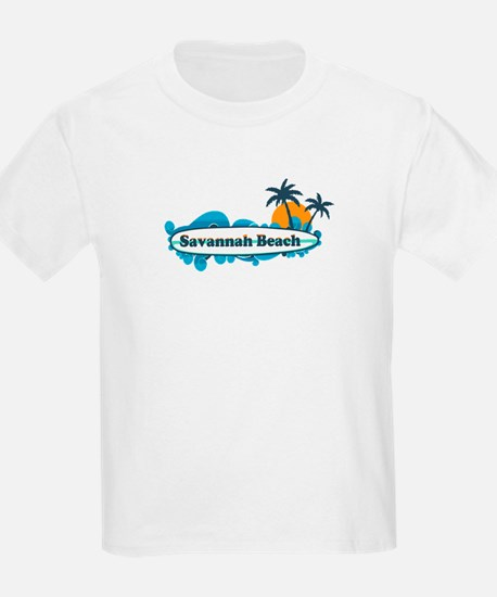 Savannah Beach GA - Surf Design. T-Shirt