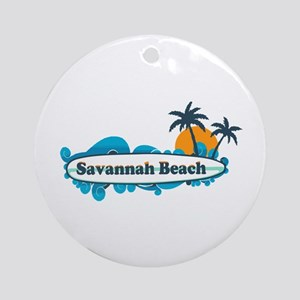 Savannah Beach GA - Surf Design. Ornament (Round)