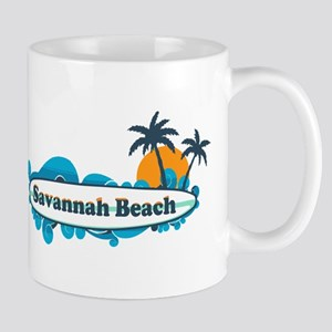 Savannah Beach GA - Surf Design. Mug