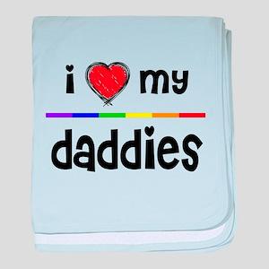 iheart daddies baby blanket