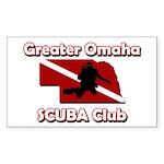 Greater Omaha SCUBA Logo Sticker (Rectangle 10 pk)