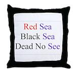 Israel Red Black Dead Seas Throw Pillow