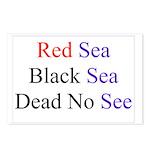 Israel Red Black Dead Seas Postcards (Package of 8