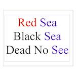 Israel Red Black Dead Seas Small Poster