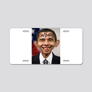 OBAMA WIMP Aluminum License Plate