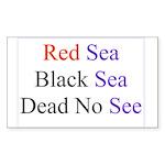 Israel Red Black Dead Seas Rectangle Sticker