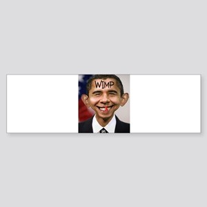 OBAMA WIMP Sticker (Bumper)