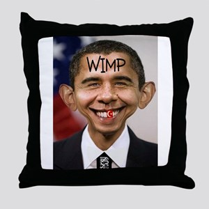 OBAMA WIMP Throw Pillow