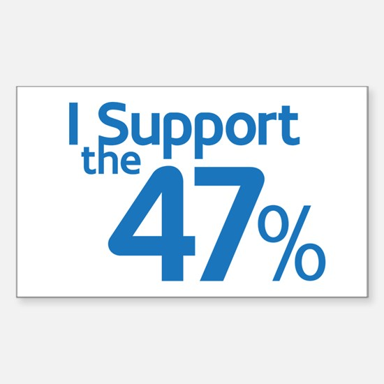 I Support the 47% Sticker (Rectangle)