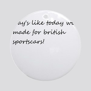 british sportcar Ornament (Round)