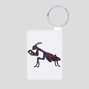 Praying Mantis Aluminum Photo Keychain