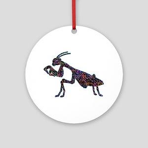 Praying Mantis Ornament (Round)