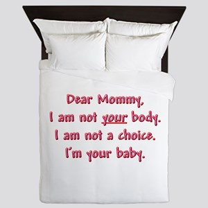 Dear Mommy Queen Duvet