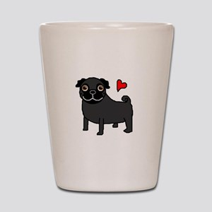 PugBlack Shot Glass