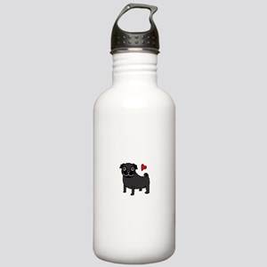 PugBlack Stainless Water Bottle 1.0L