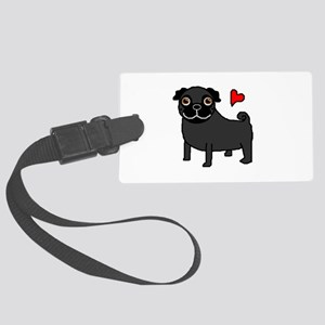 PugBlack Large Luggage Tag