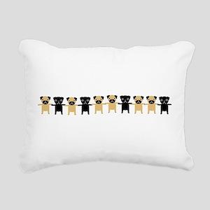 StingOPugsLong Rectangular Canvas Pillow