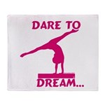 Gymnastics Throw Blanket - Dream