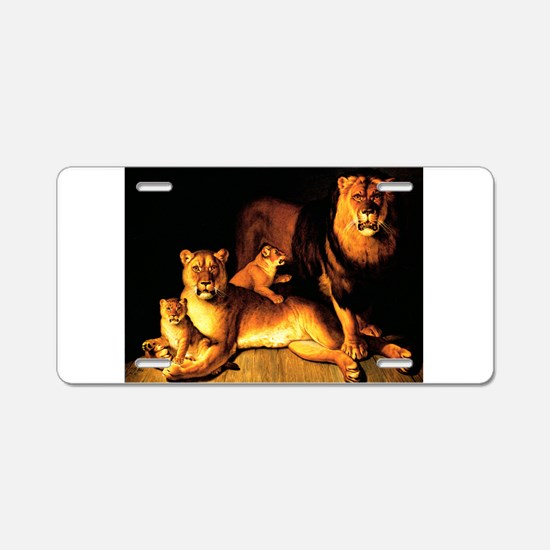 The Lion Family Aluminum License Plate