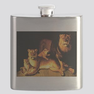 The Lion Family Flask