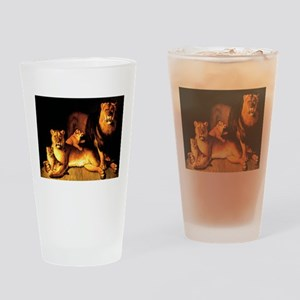 The Lion Family Drinking Glass