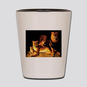 The Lion Family Shot Glass