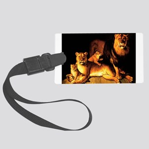 The Lion Family Large Luggage Tag