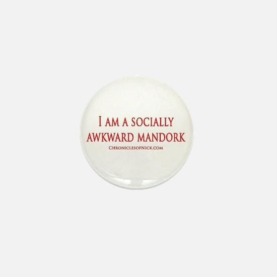 Socially Awkward Mandork Mini Button
