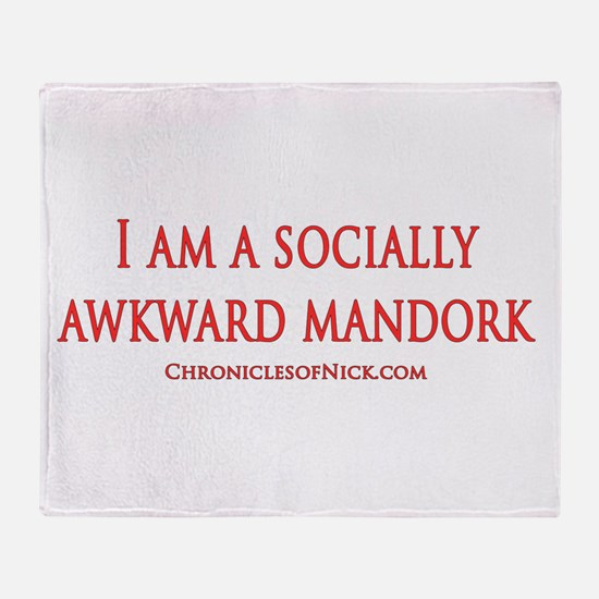 Socially Awkward Mandork Throw Blanket