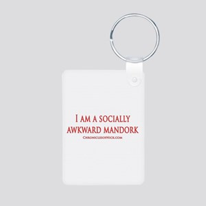 Socially Awkward Mandork Aluminum Photo Keychain