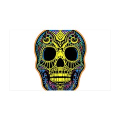 Colorful skull Wall Decal