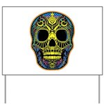 Colorful skull Yard Sign