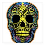 Colorful skull Square Car Magnet 3