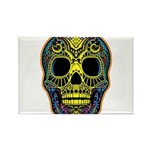 Colorful skull Rectangle Magnet