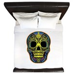 Colorful skull King Duvet