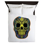 Colorful skull Queen Duvet