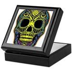 Colorful skull Keepsake Box