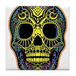 Colorful skull Tile Coaster