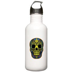 Colorful skull Water Bottle