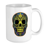 Colorful skull Large Mug
