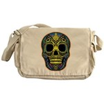 Colorful skull Messenger Bag