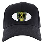Colorful skull Black Cap
