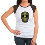 Colorful skull Women's Cap Sleeve T-Shirt