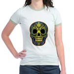 Colorful skull Jr. Ringer T-Shirt