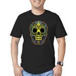 Colorful skull Men's Fitted T-Shirt (dark)