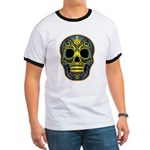 Colorful skull Ringer T