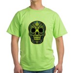 Colorful skull Green T-Shirt