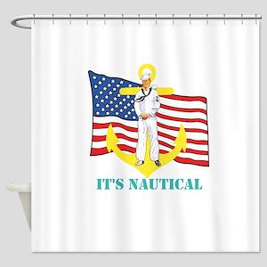 Its Nautical Shower Curtain