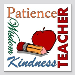 "Teacher Square Car Magnet 3"" x 3"""