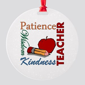 Teacher Round Ornament